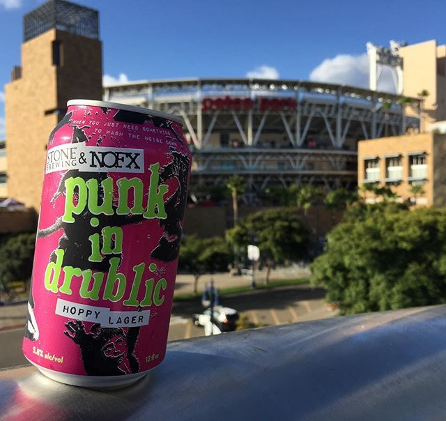 The Padres might be losing but Stone is always winning. •Punk in Drublic Hoppy Lager, Stone Brewing Co & NOFX• A collaboration beer that follows no rules. Limited release in four states. #punkindrublic #stonebrewing #sandiego #sandiego #sandiegoconnection #sdlocals #sandiegolocals - posted by Brewskis & Viewskis by Drewski https://www.instagram.com/brewskisandviewskis. See more San Diego Beer at http://sdconnection.com