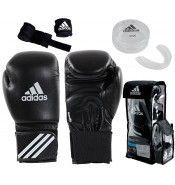 Adidas Adibpkit01 Boks Seti (eldiven+dişlik+bandaj)