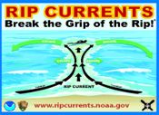 Learn all about rip currents from NOAA - what a rip current is, the dangers of being caught in one and how to escape.