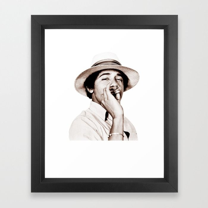 Buy Barack Obama Smoking weed Framed Art Print by amy90. Worldwide shipping available at Society6.com. Just one of millions of high quality products available.