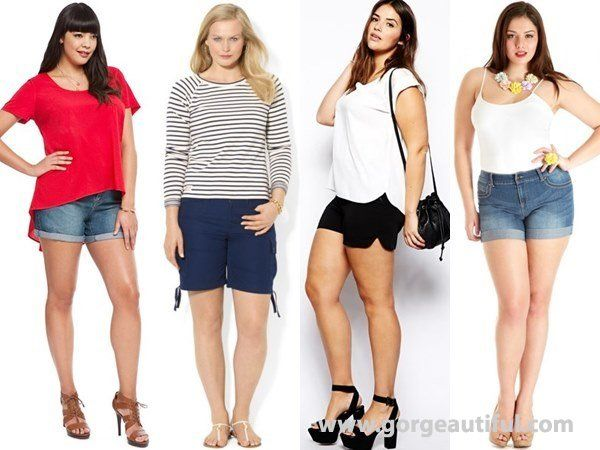 Shorts for Plus Size Apple Body Shape