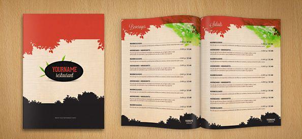Templates para cardápios de restaurante