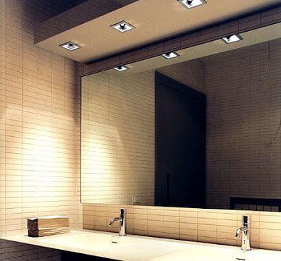 bathroom mirror - Flat no bevel...above vanity top & taps