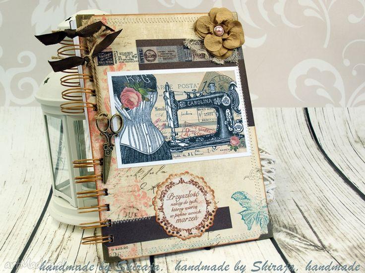 Notatnik krawiecki scrapbooking notesy shiraja dla krawcowej