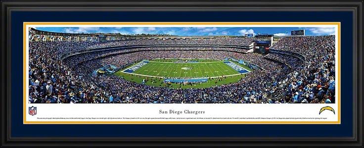 San Diego Chargers - Qualcomm Stadium - NFL Panorama $199.95