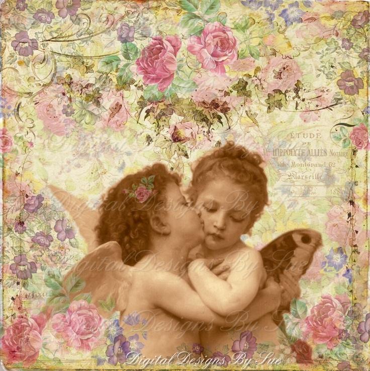 heavenly angels | Heavenly Angels - U Print Digital Download Collage Sheet - Single ...