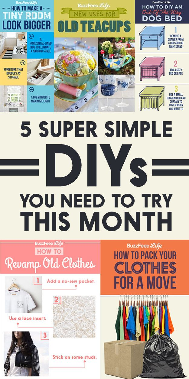 5 Super Simple Diys You Need To Try This Month