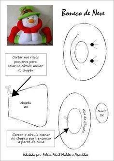 Resultado de imagem para moldes de manualidades de navidad para imprimir