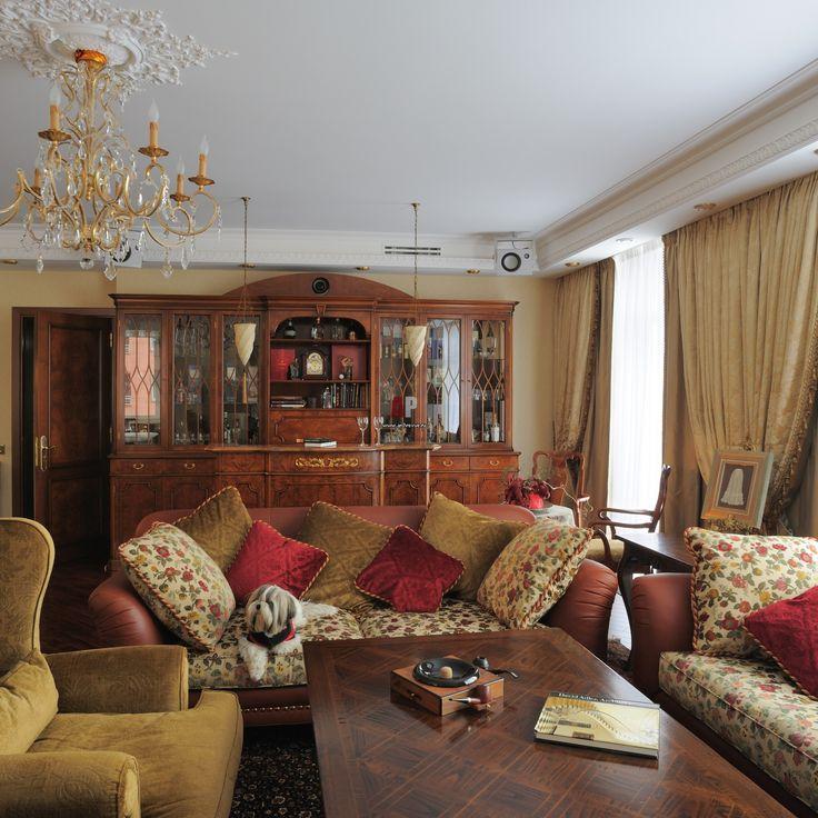 Европейская классика. Дизайн-проект традиционного интерьера квартиры с тремя спальнями