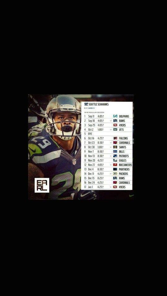 Seattle Seahawks 2016 Regular Season Schedule! Save as device Screensaver... Oooooooooo!