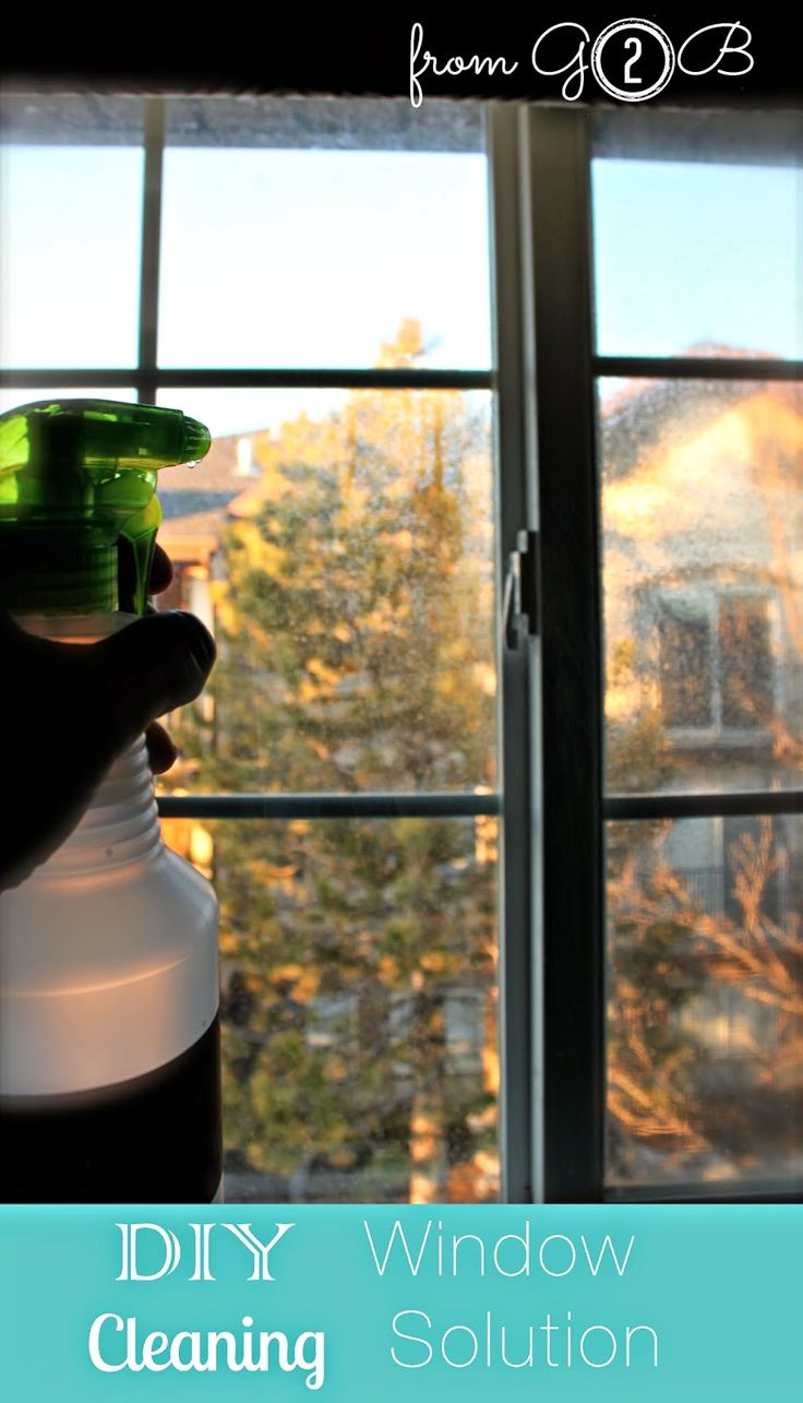 DIY Window Cleaning Solution #allnatural #cleaners