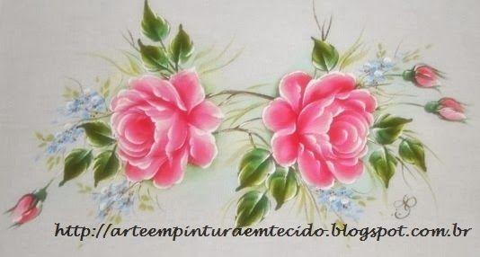 Pintura+em+tecido+ramo+de+rosas.JPG (534×286)