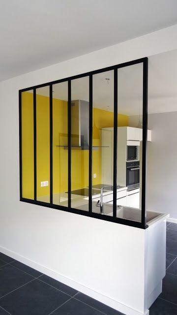 """Verrière d'intérieur """"Style atelier"""" H1580xL1900 / 6 travées"""