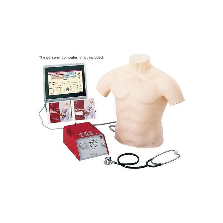 M164 - SIMULATEUR D'AUSCULTATION Simulateur reproduisant divers symptômes permettant la pratique de l'auscultation avec un sentiment d'être dans une situation clinique réelle.  Le simulateur d'auscultation Sakamoto reproduit , des bruits cardiaques , des sons respiratoires de patients . Fabricant : Sakamoto Model corp.