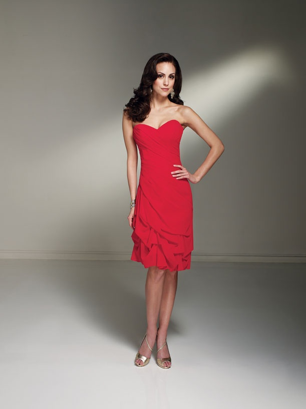 Red Bridesmaid Dress by Sophia Tolli