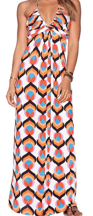 cute patterned maxi dress