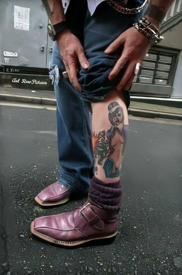 Pin by syska syska on Axl | Axl rose, Axl rose tattoo, Rose tattoo leg