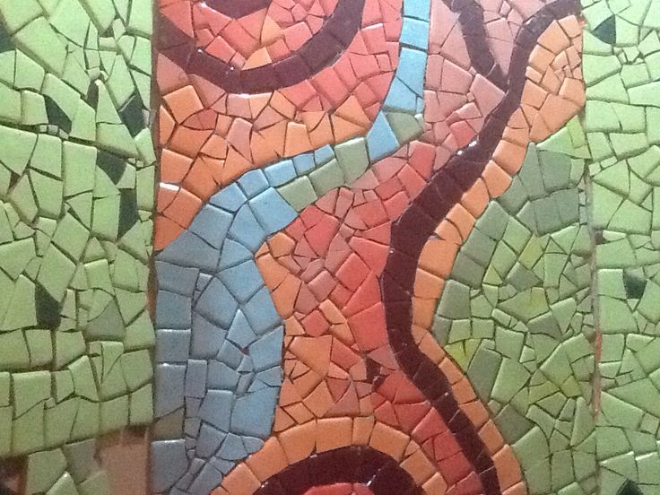 Ducha. Mosaico sin fraguar #mosaico
