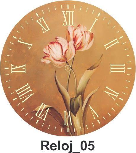 TODO EN MANUALIDADES: 10 láminas decoupage de relojes para imprimir