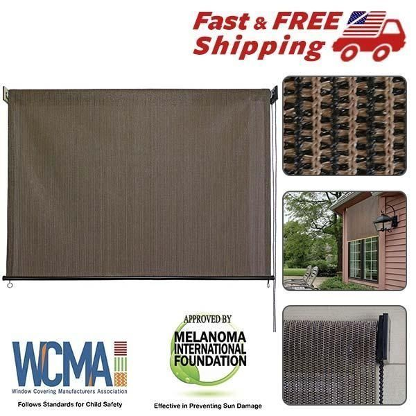 Exterior Shade Roller Outdoor Cordless Window Roll Blind Up 6ft x 6ft Patio Sun | Home & Garden, Window Treatments & Hardware, Blinds & Shades | eBay!
