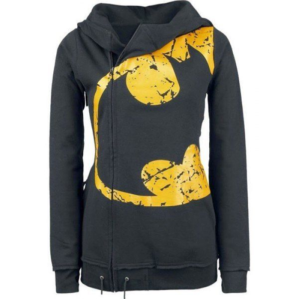 Batman black and Yellow  Zip up long sleeve Hooded for Women Free Shipping  #740Boutique #Hoodie