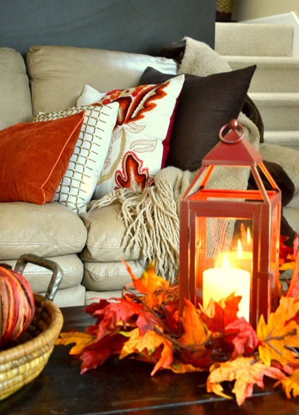 Fall Textures And Decorating Ideas For Your Home · Fall Living RoomLiving  ... Part 91