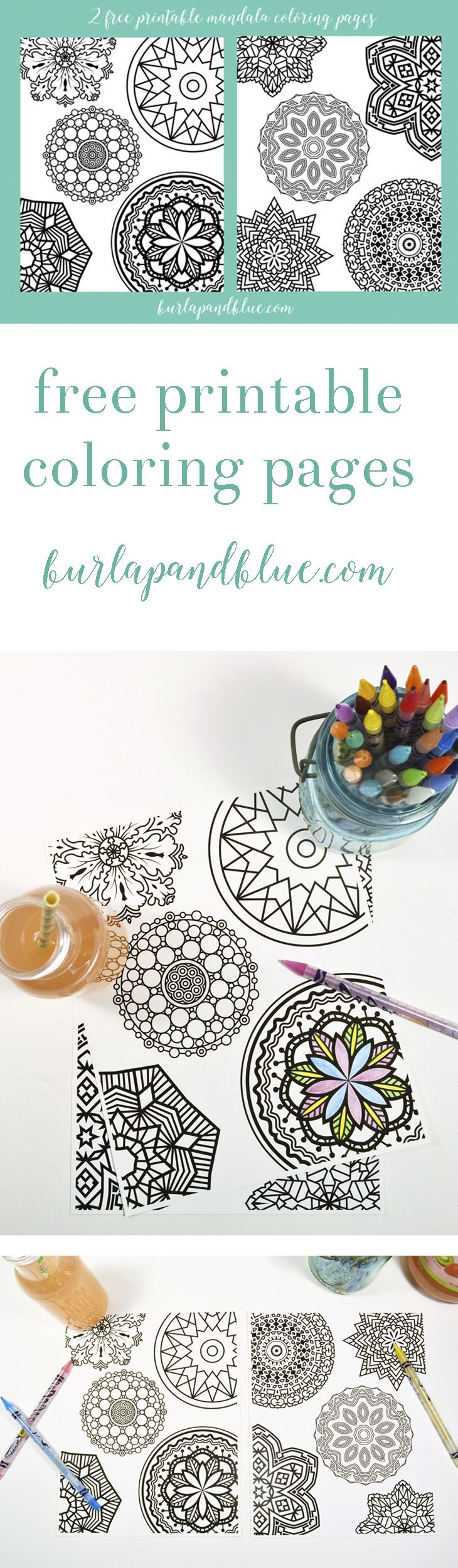 free printable mandala coloring pages! the perfect way to relax with some free adult coloring pages!