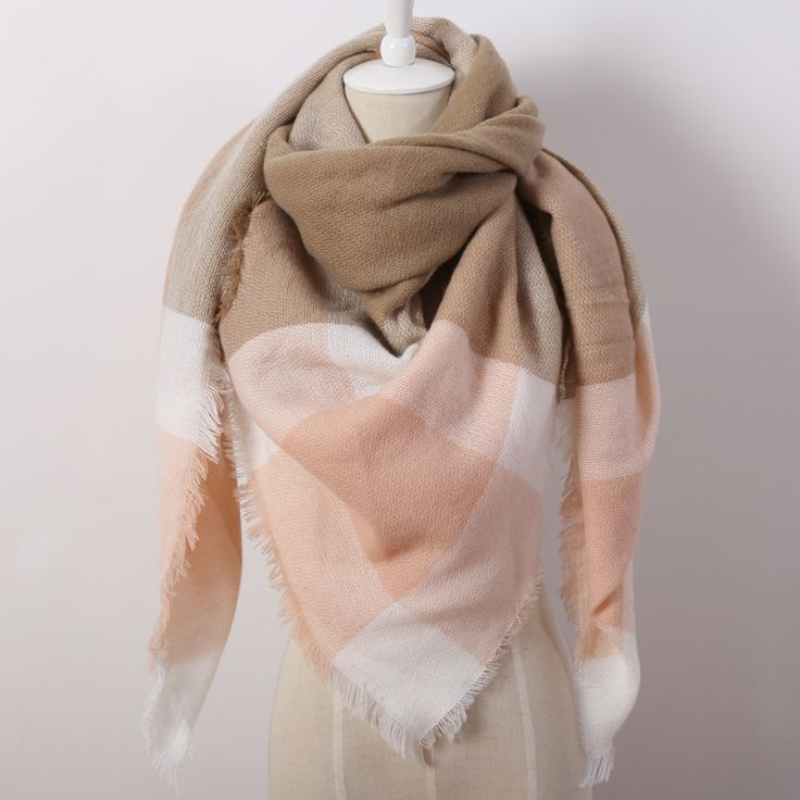 2016 Luxury Brand Women'S Scarf Soft Cashmere Blanket Warm in Winter Fashion Plaid Square Shawls  Size 140cm X 140cm Wholesale