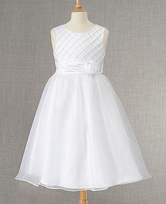 520279116 Rare Editions Girls Dress, Girls Communion Lattice Ballerina Dress - Kids  Dresses & Dresswear - Macy's 58 | Flower Girl Dresses Macys | Designer Flower  Girl ...