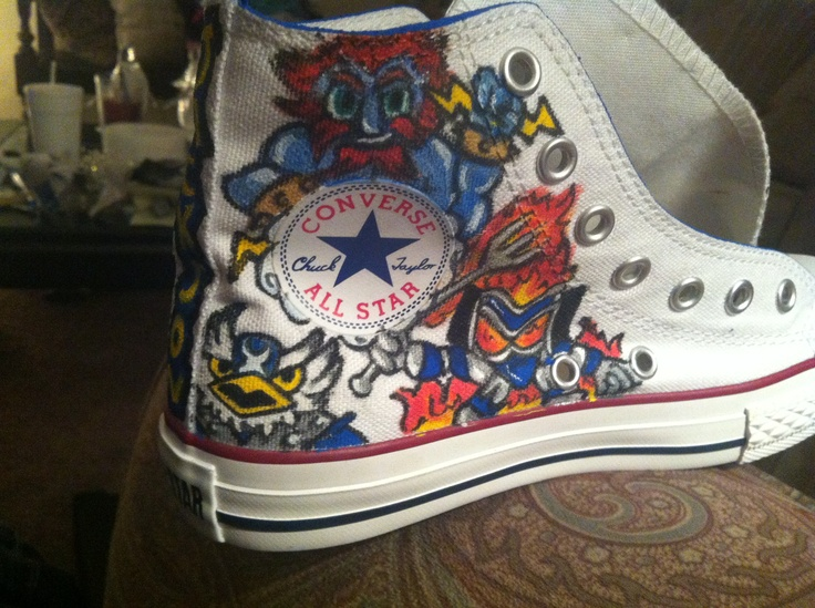 Skylander shoes made more special by only featuring the kid's favorite characters.