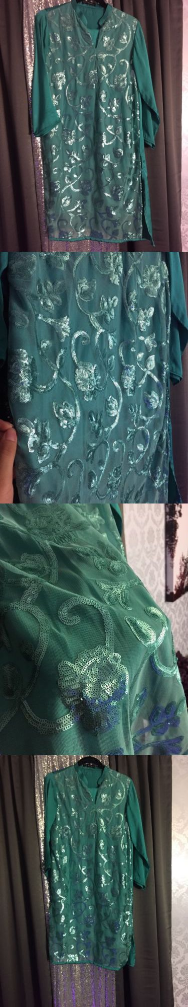 Salwar Kameez 155249: Blue Designer Pakistani Shalwar Kameez Boutique Btw New 38 Size Large -> BUY IT NOW ONLY: $38 on eBay!