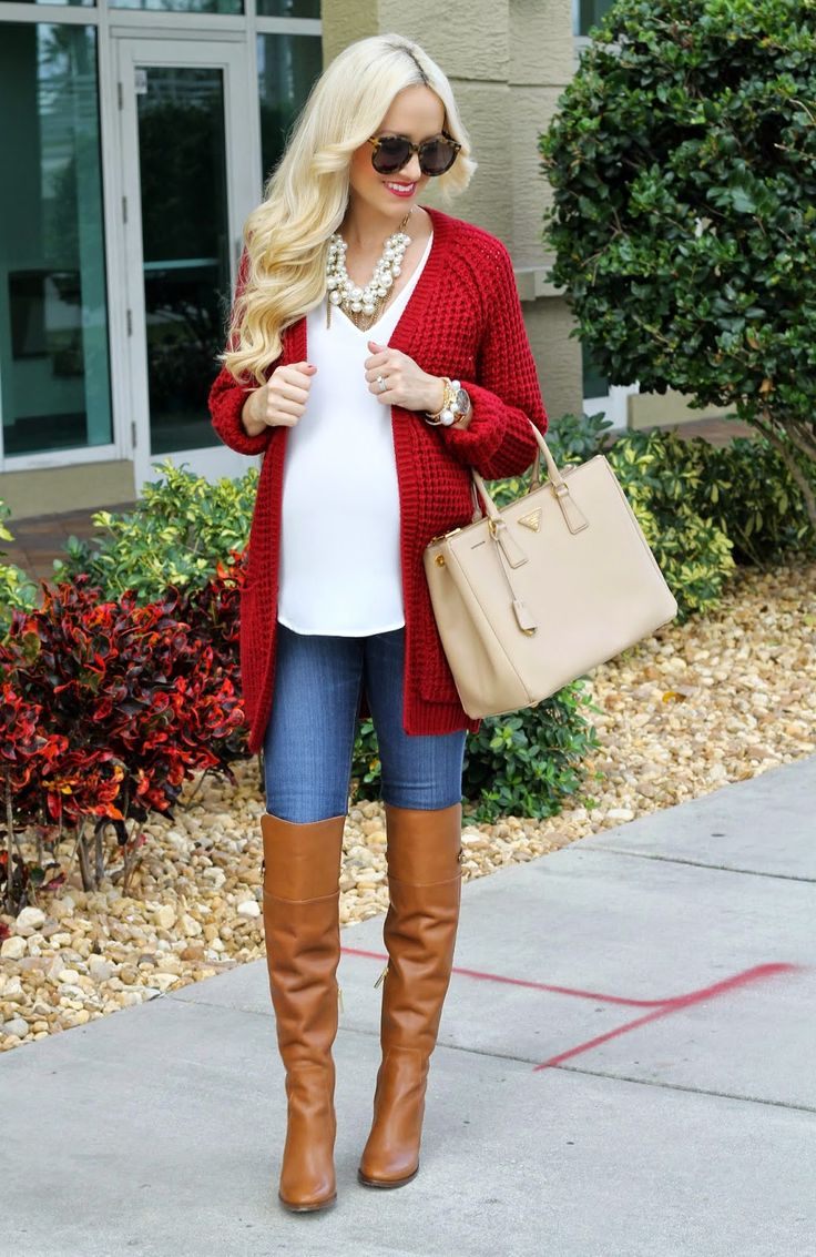 This red sweater would be perfect for my husband's basketball games - he coaches a team that's red.