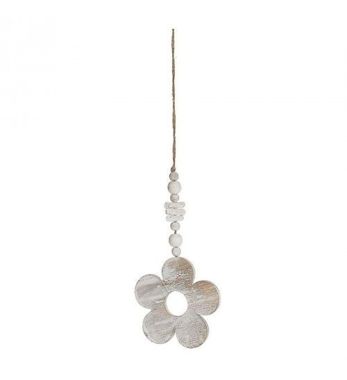 WOODEN HANGING FLOWER IN WHITE_BEIGE COLOR 10X10X0_5_35
