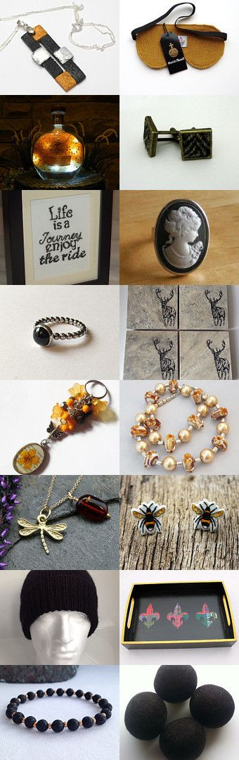 Black and Gold @IHeartScotland Team by Anne on Etsy--Pinned+with+TreasuryPin.com