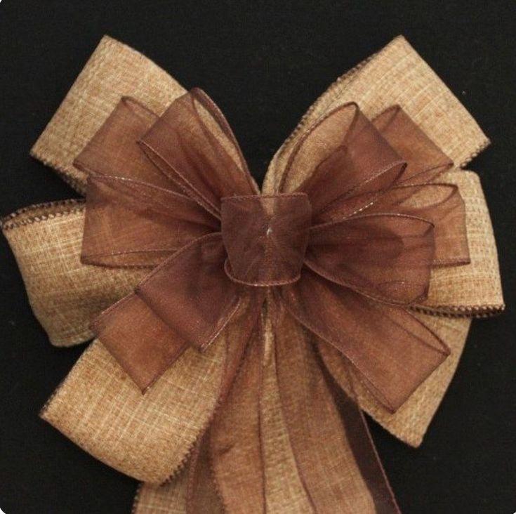 Burlap and sheer ribbon