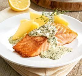 rezept-Lachs in Zitronen-Dill-Soße