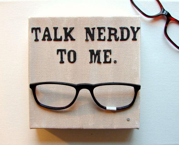 Nerd Geek Art Mixed Media 3D Art Real Black Rimmed by BendixenArt #GEEKERY #mixedmediaart #nerdy #geek #3Dart