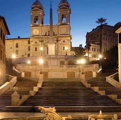 Spanish Steps -< Rome Italy - by Jeffrey Alan Riedel
