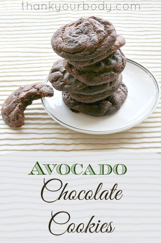 You'll never guess these chocolate cookies are made with avocado!