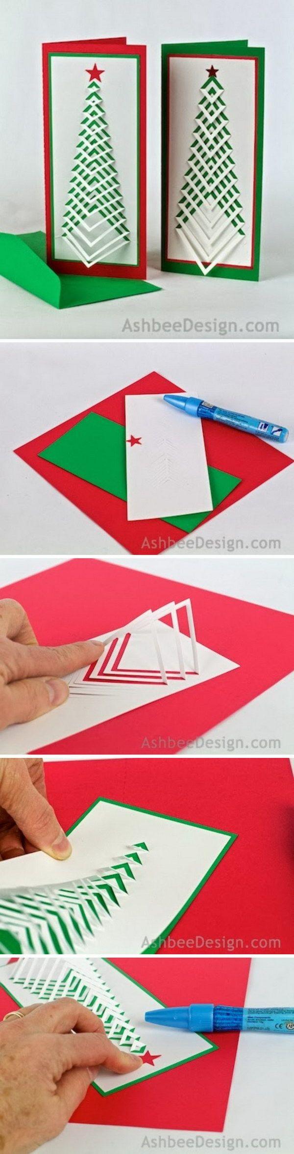 DIY: Chevron Christmas Tree Card.