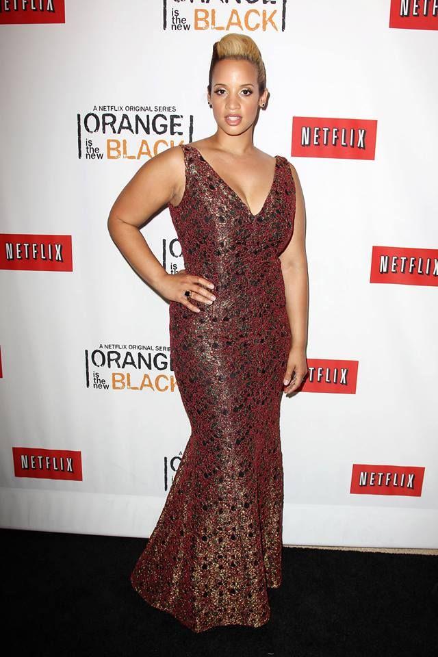 Dascha Polanco (Dayanara Diaz) at the Netflix Presents 'Orange is the New Black' premiere in NYC. #OITNB