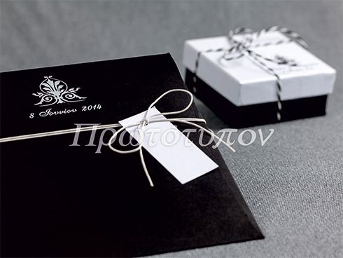 Wedding Invitation & Bomboniere. A stylish proposition in black & white by Prototypon