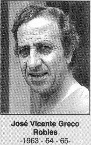 José Vicente Greco Robles 1963-1964-1965