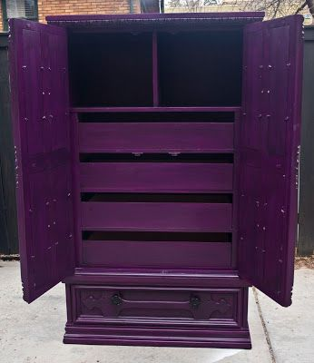modernly shabby chic furniture purple