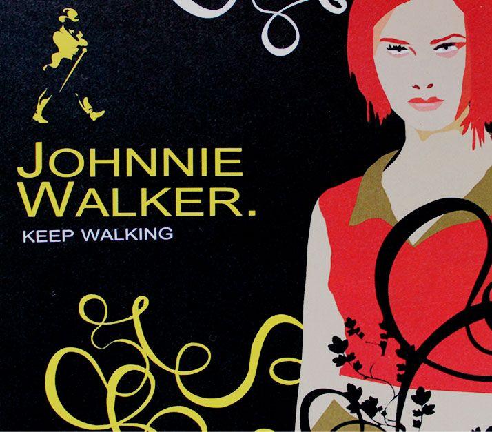 Cartel Promocional Johnnie Walker .