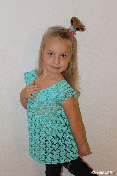 Delicadezas en crochet Gabriela: Blusa para niña