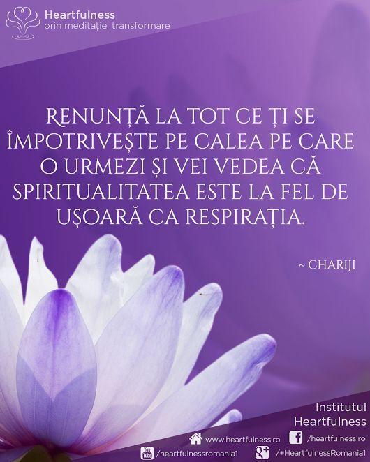 Renunță la tot ce ți se împotrivește pe calea pe care o urmezi și vei vedea că spiritualitatea este la fel de ușoară ca respirația. ~ Chariji www.heartfulness.ro #cunoaste_cu_inima #meditatia_heartfulness #hfnro Meditatia Heartfulness Romania