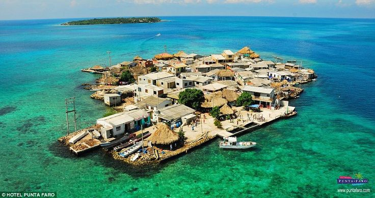 Despite measuring just 0.012 square kilometres, 1200 people have somehow managed to squeeze on to Santa Cruz del Islote