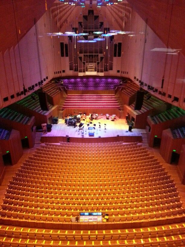We have new LED house lights in the Concert Hall
