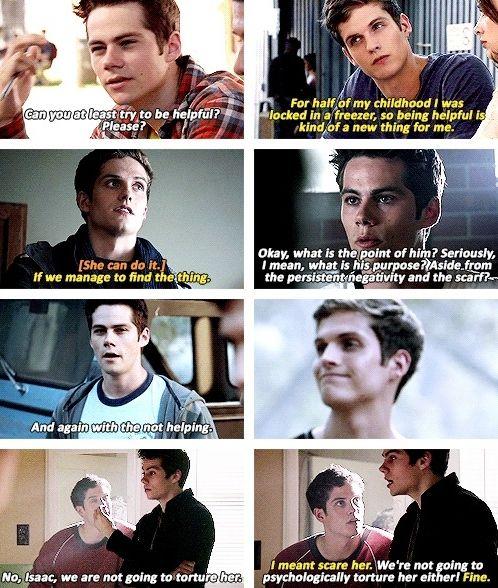 Isaac & Stiles bickering